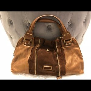 Jimmy Choo Brown/Bronze Leather Suede w/Gold trim
